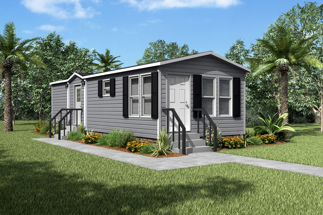 this mobile home features 1 bedroom and 1 bath
