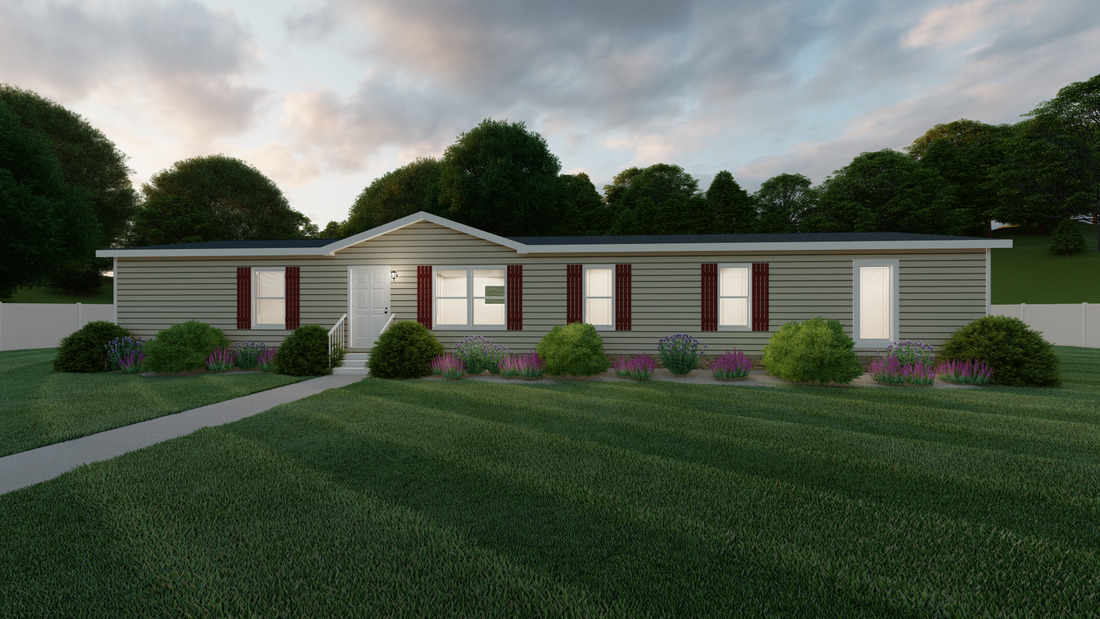 The THE DARIEN Exterior. This Manufactured Mobile Home features 4 bedrooms and 2 baths.