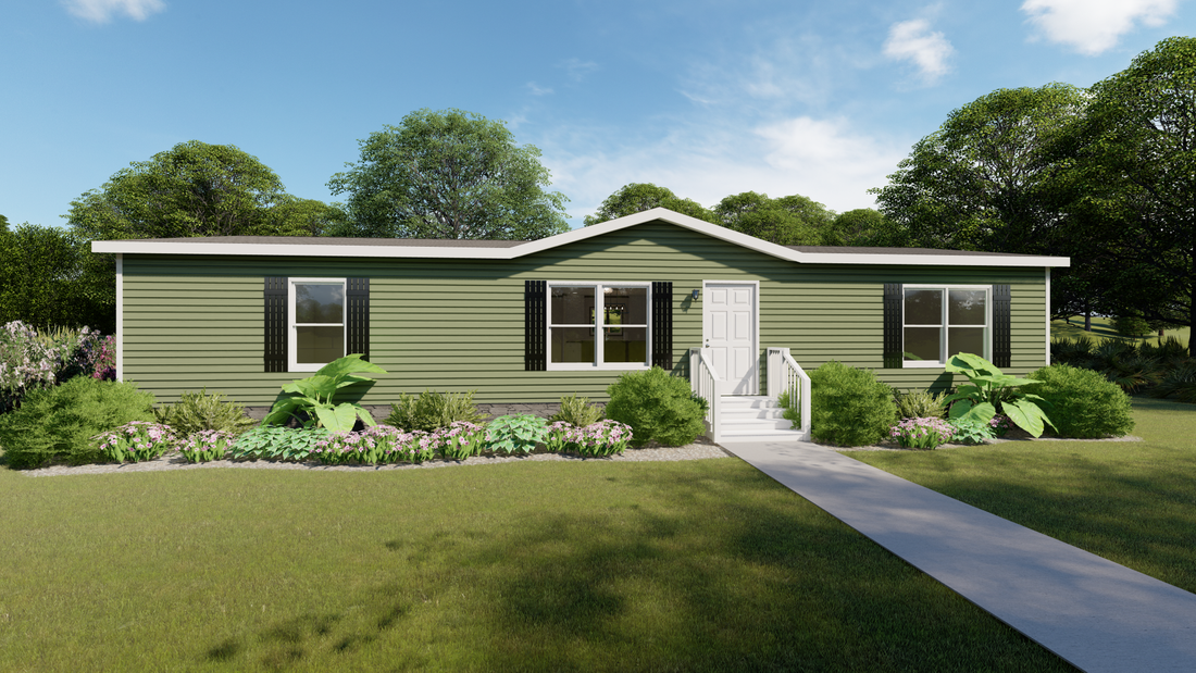 The THE KINGSLAND Exterior. This Manufactured Mobile Home features 3 bedrooms and 2 baths.