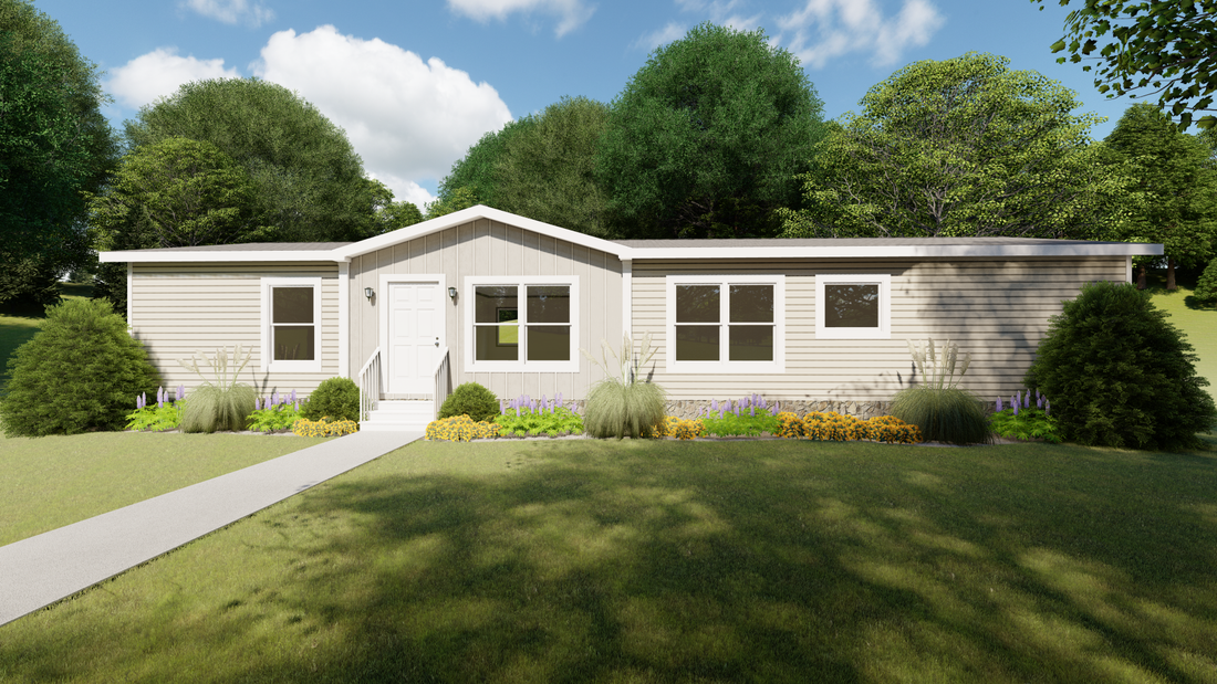 The THE PALMETTO Exterior. This Manufactured Mobile Home features 3 bedrooms and 2 baths.