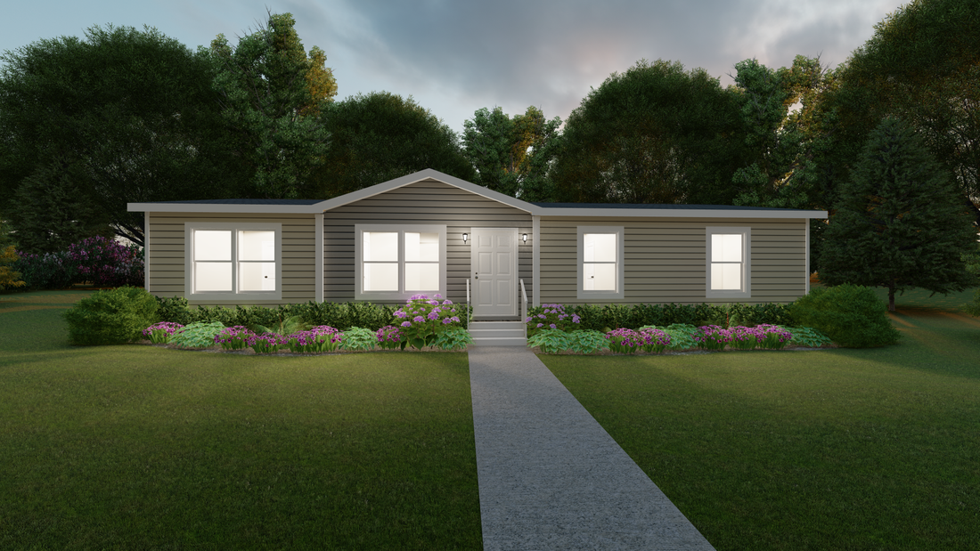 The THE RICHMOND Exterior. This Manufactured Mobile Home features 3 bedrooms and 2 baths.