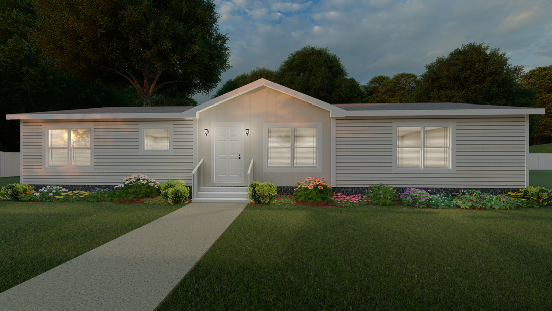 The THE BUFORD Exterior. This Manufactured Mobile Home features 3 bedrooms and 2 baths.