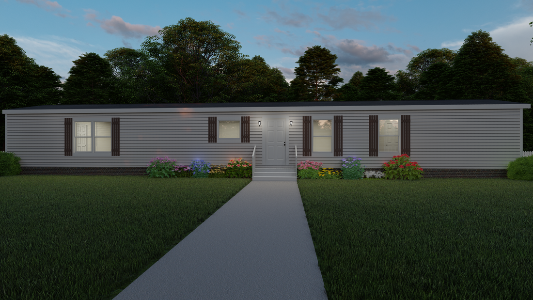 The THE ALBANY Exterior. This Manufactured Mobile Home features 3 bedrooms and 2 baths.
