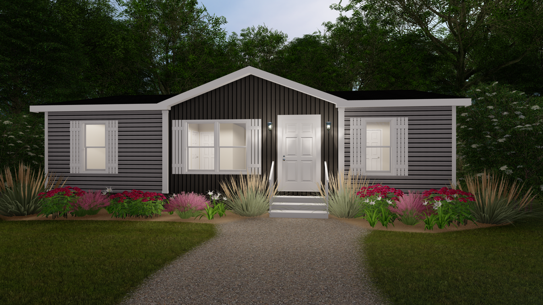 The THE DALTON Exterior. This Manufactured Mobile Home features 3 bedrooms and 2 baths.