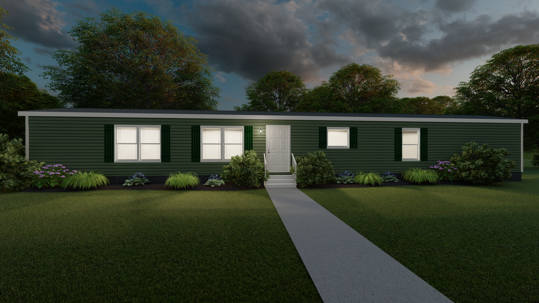 The THE HAMILTON Exterior. This Manufactured Mobile Home features 3 bedrooms and 2 baths.