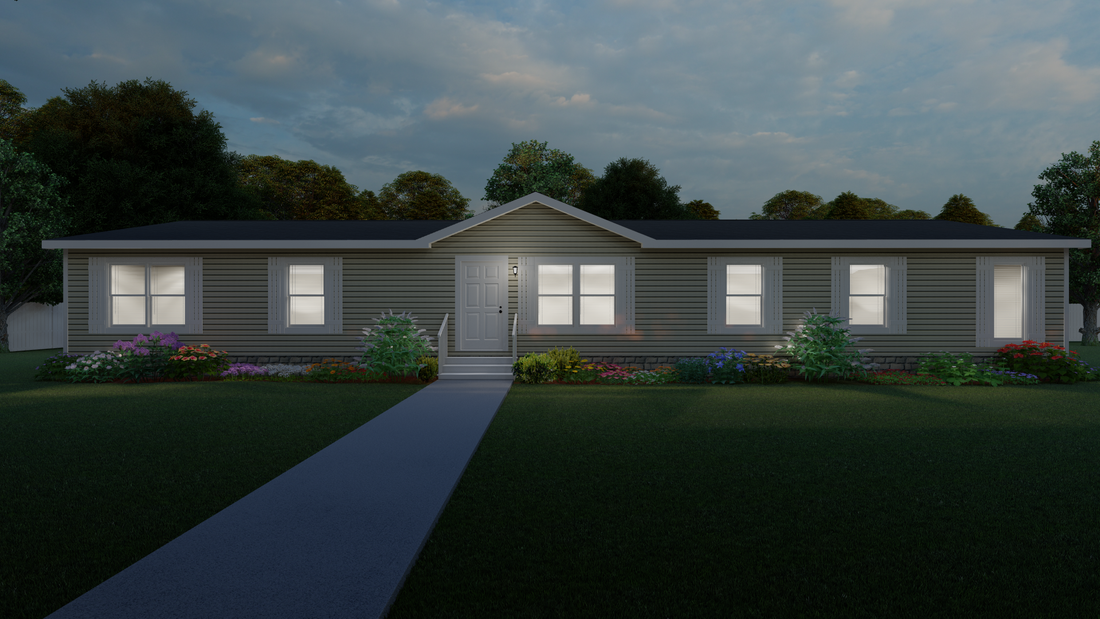 The THE STONECREST Exterior. This Manufactured Mobile Home features 4 bedrooms and 2 baths.