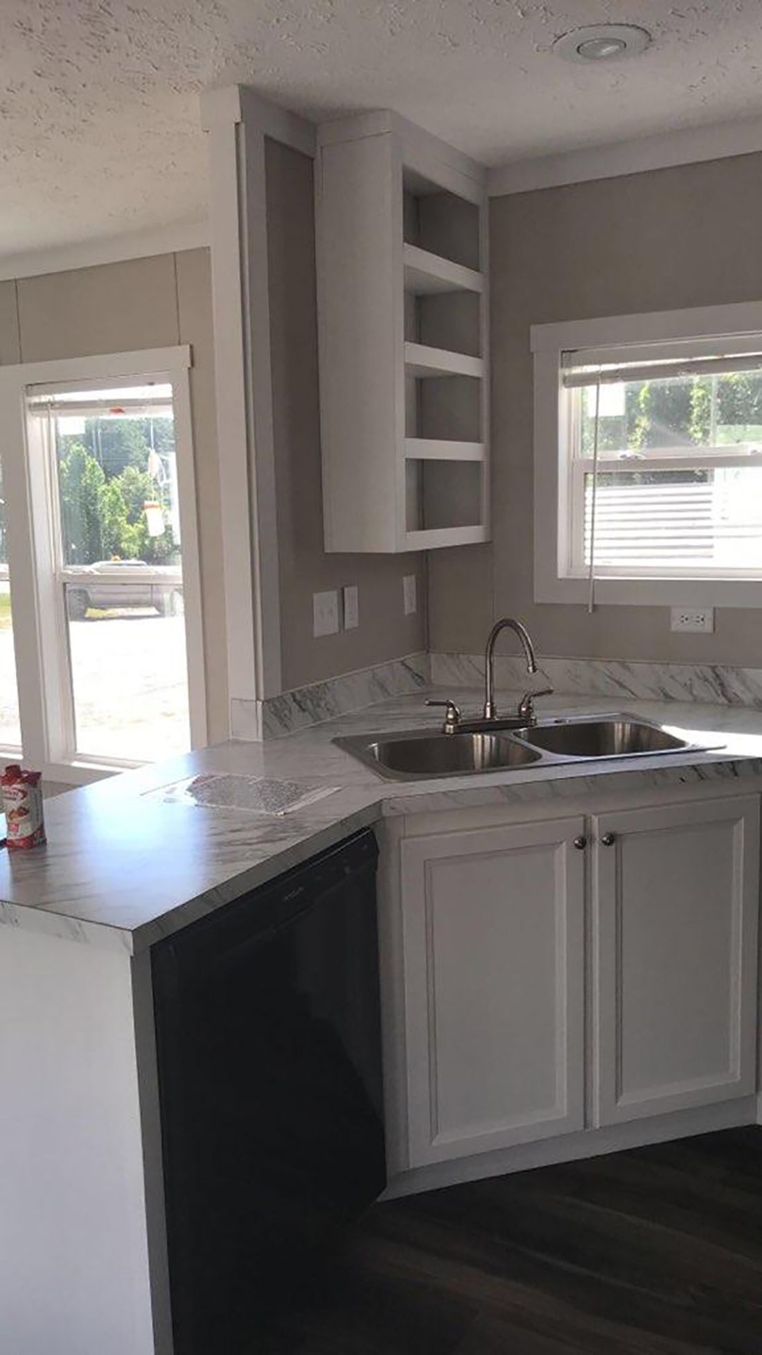 The THE MURPHY Kitchen. This Manufactured Mobile Home features 1 bedroom and 1 bath.