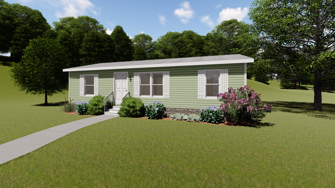 The CS2440-A Exterior. This Manufactured Mobile Home features 3 bedrooms and 2 baths.