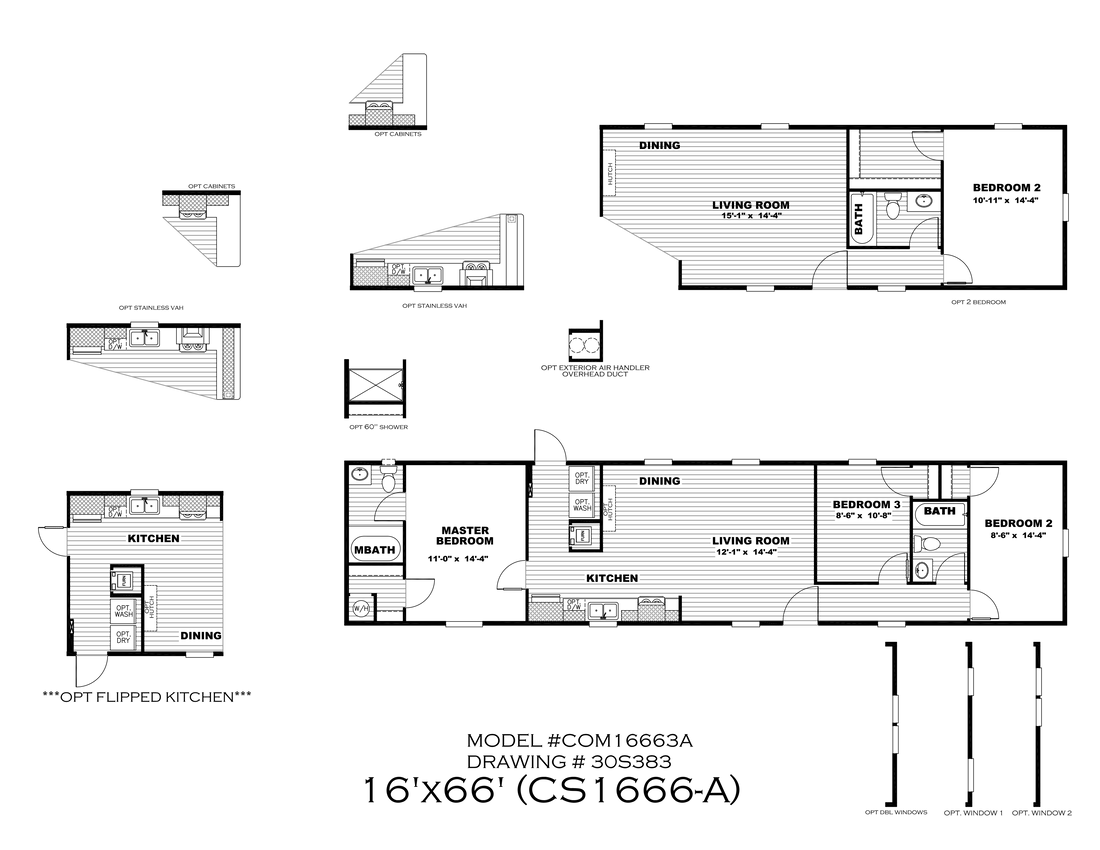 The CS1666-A Floor Plan