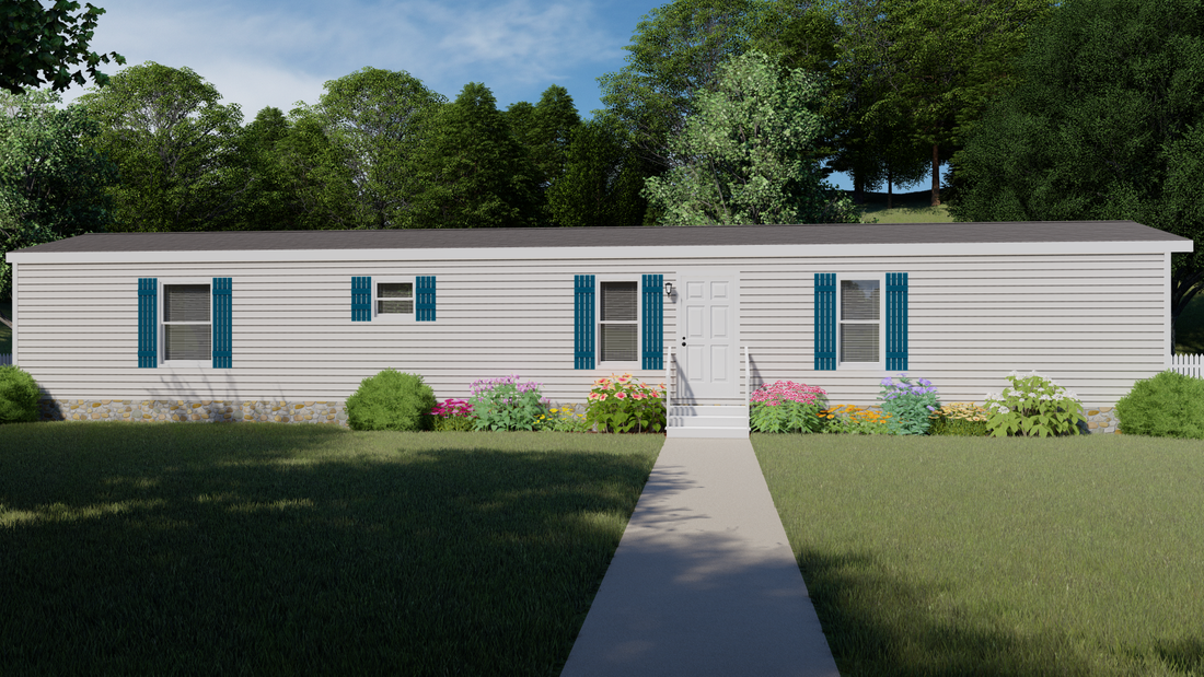 The CS1666-A Exterior. This Manufactured Mobile Home features 3 bedrooms and 2 baths.