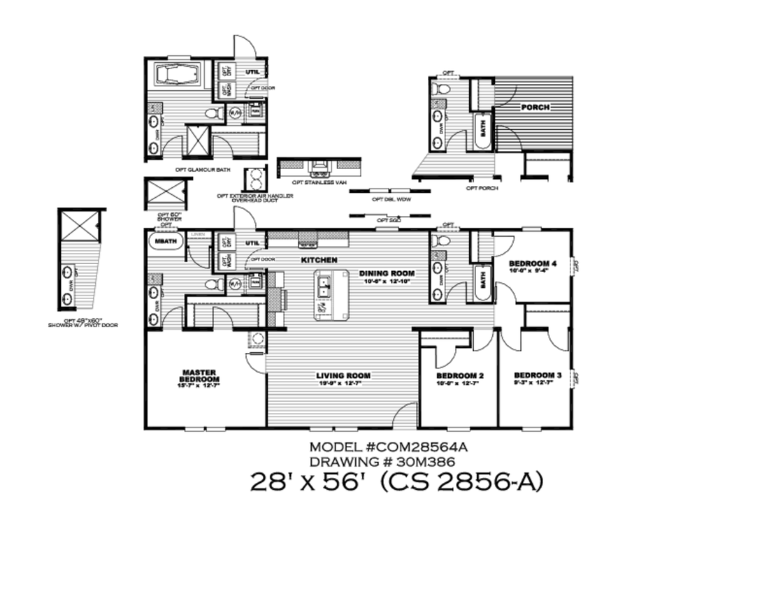 The CS2856-A Floor Plan