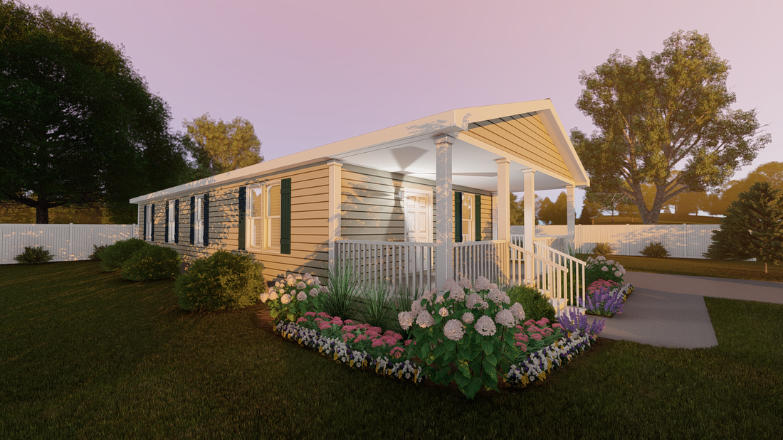 The CS2448-A Exterior. This Manufactured Mobile Home features 3 bedrooms and 2 baths.