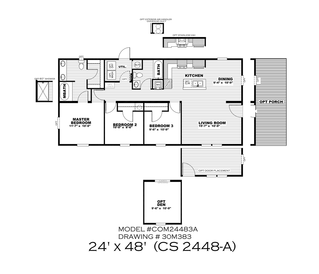 The CS2448-A Floor Plan
