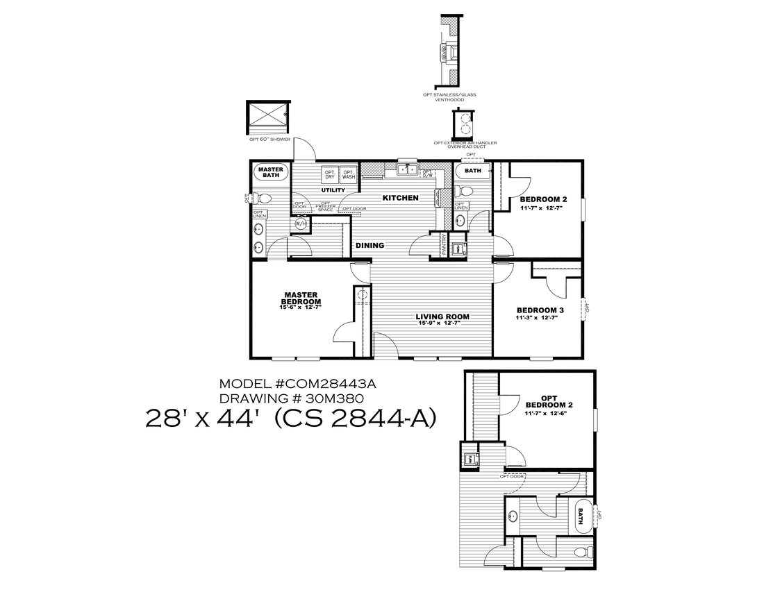 The CS 2844-A Floor Plan