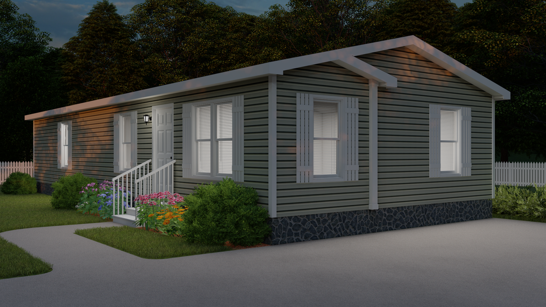 The CS2452-A Exterior. This Manufactured Mobile Home features 3 bedrooms and 2 baths.