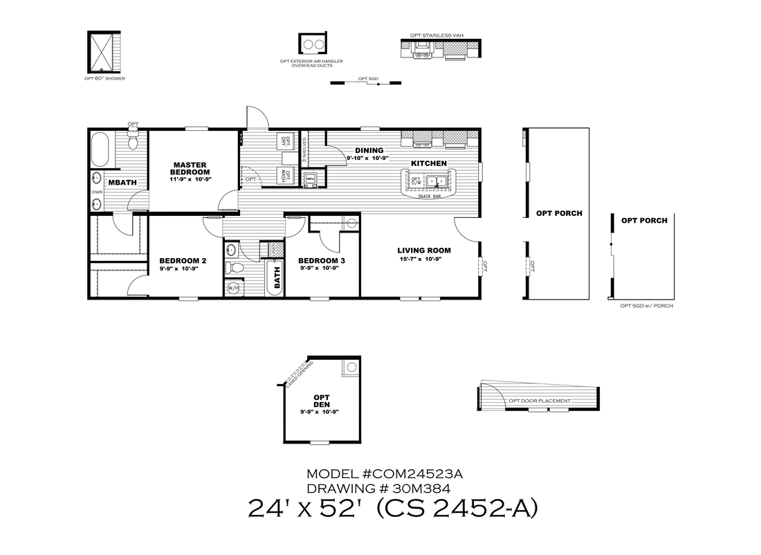 The CS2452-A Floor Plan
