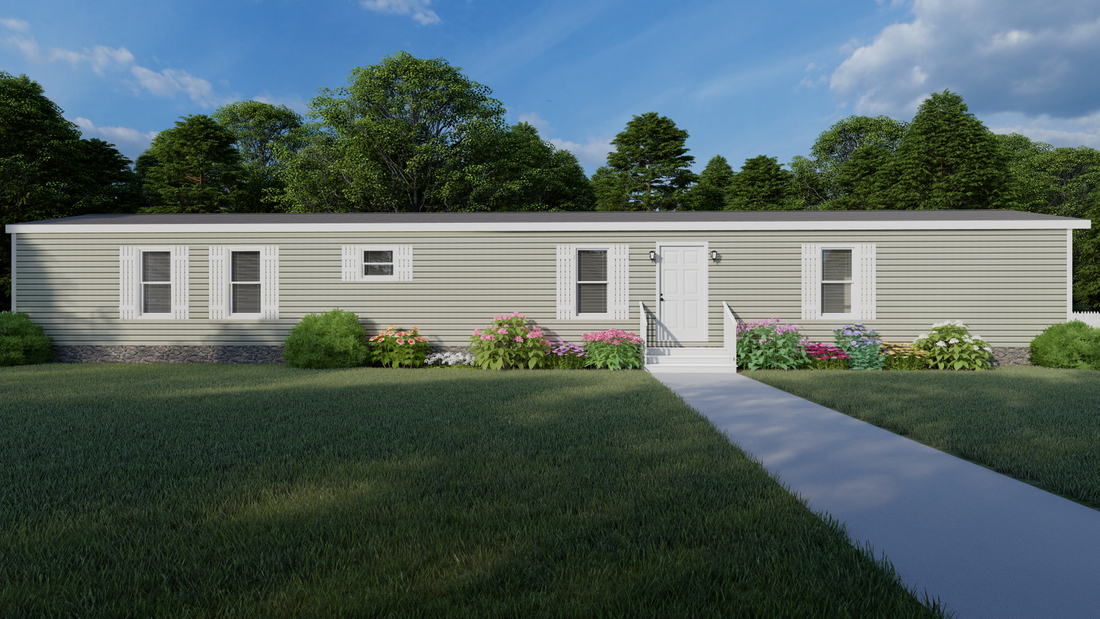 The CS1676-B Exterior. This Manufactured Mobile Home features 3 bedrooms and 2 baths.