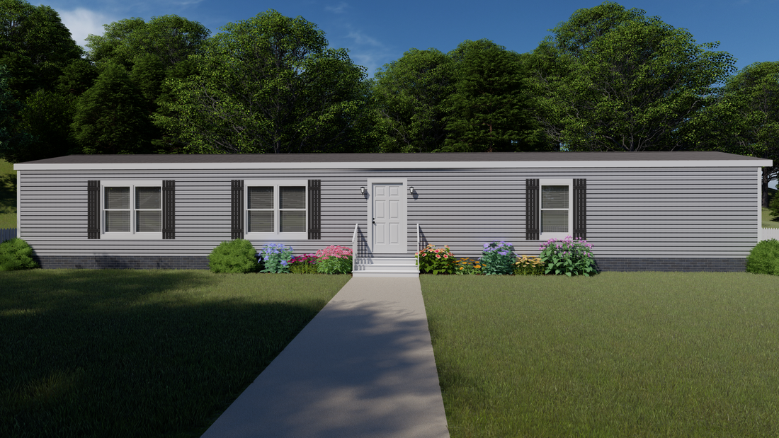 The THE MARIETTA Exterior. This Manufactured Mobile Home features 3 bedrooms and 2 baths.