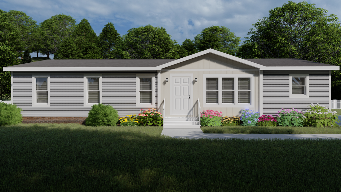 The ISLAND BREEZE Exterior. This Manufactured Mobile Home features 3 bedrooms and 2 baths.