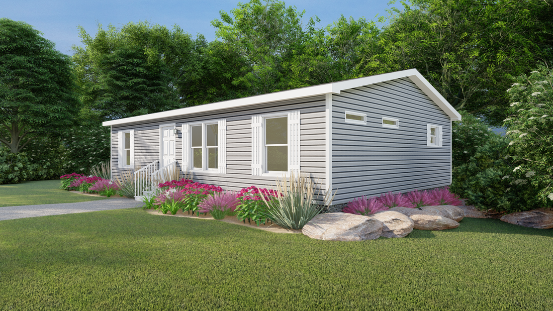 The CS2840-A Exterior. This Manufactured Mobile Home features 3 bedrooms and 2 baths.