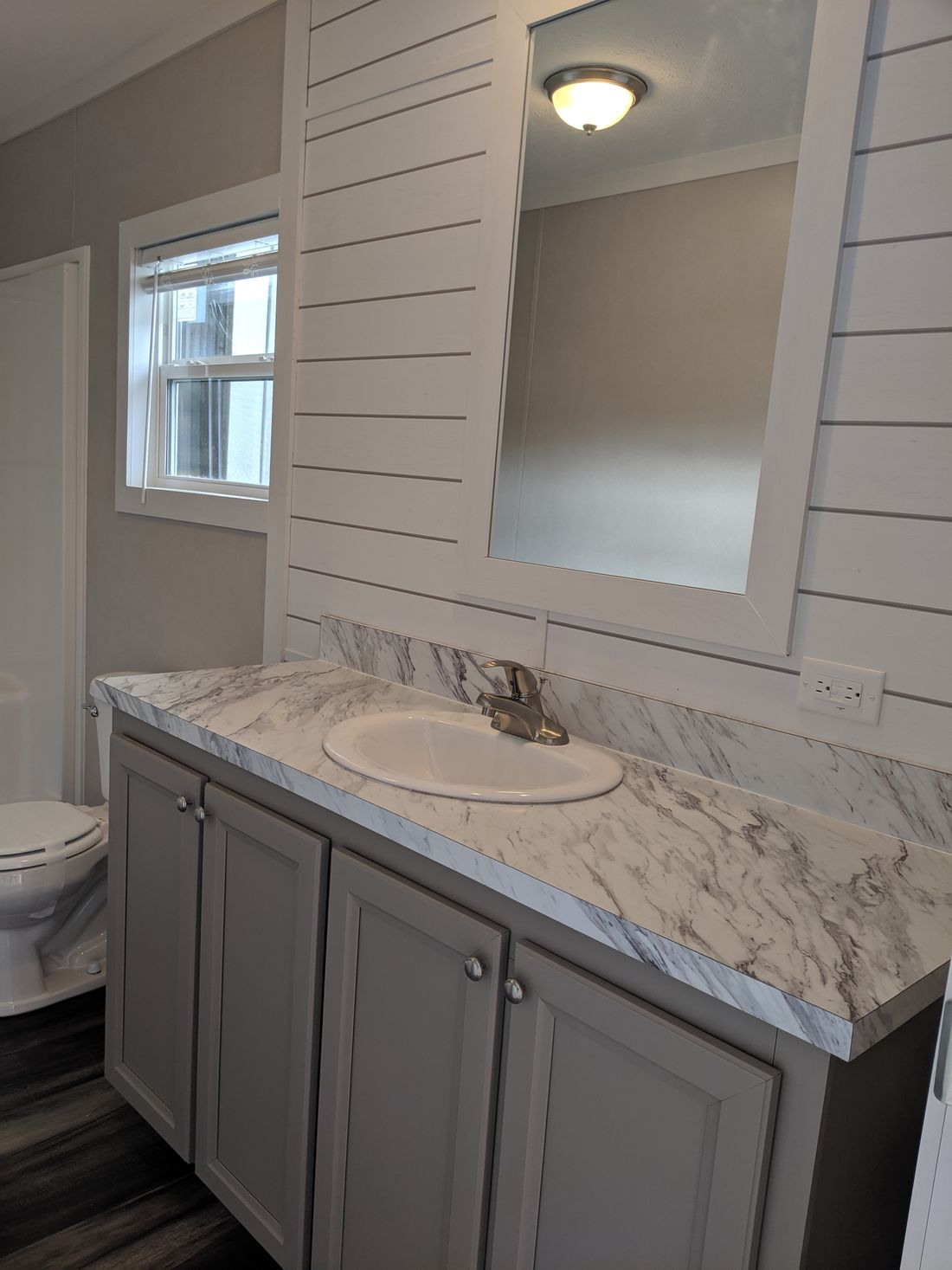 The CS2840-A Master Bathroom. This Manufactured Mobile Home features 3 bedrooms and 2 baths.