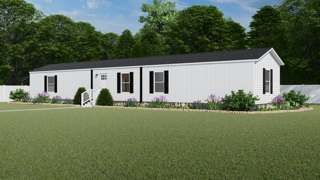 The ODYSSEY Exterior. This Manufactured Mobile Home features 3 bedrooms and 2 baths.