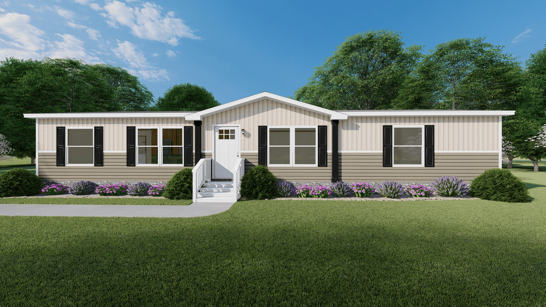 The SAFARI Exterior. This Manufactured Mobile Home features 3 bedrooms and 2 baths.