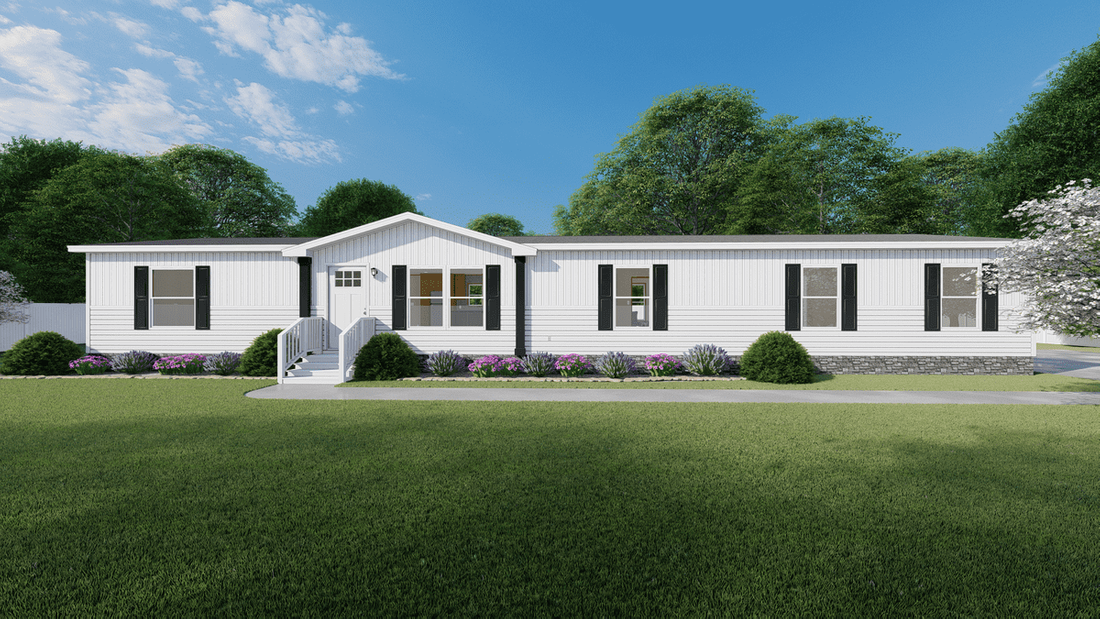 The SUMMIT Exterior. This Manufactured Mobile Home features 4 bedrooms and 2 baths.