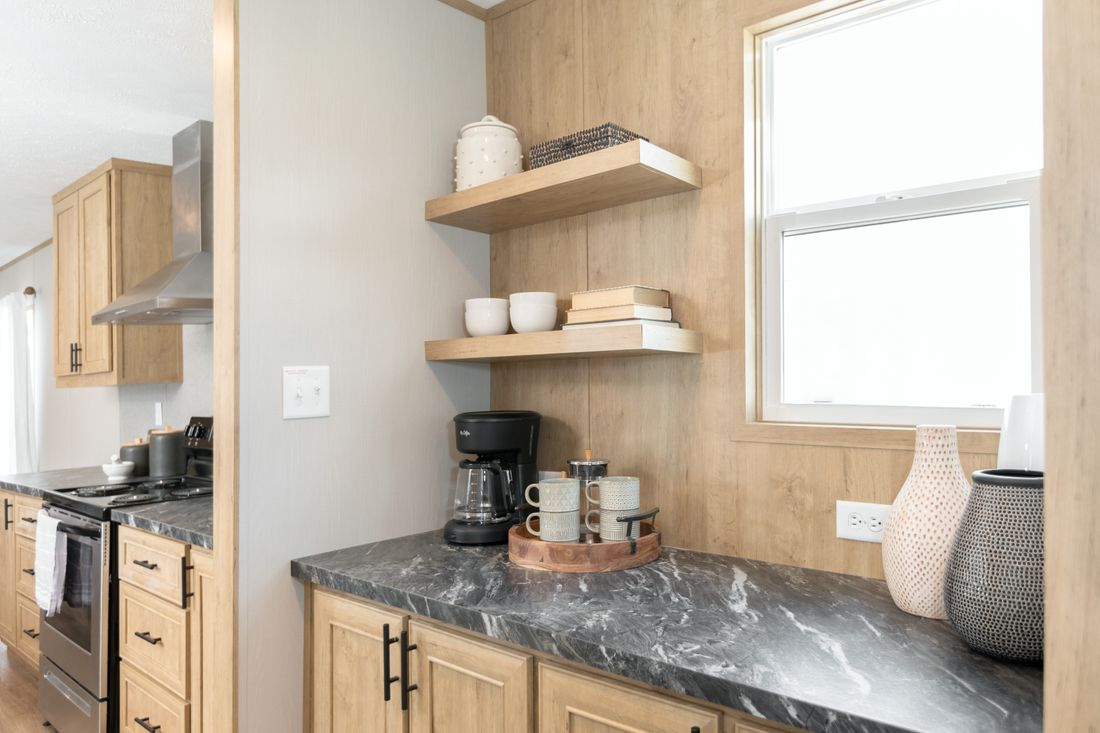 The TIDE Kitchen. This Manufactured Mobile Home features 2 bedrooms and 2 baths.